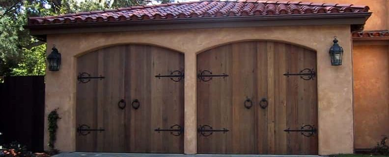 A wooden Garage Doors Burnaby BC