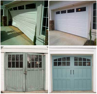 Canadian Garage Door repair Before and after
